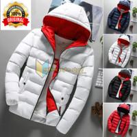 jaket pria jaket pria parasut anti air jaket pria musim dingin - Putih, S