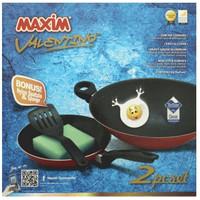 Maxim V**entino 2set wajan / Penggorengan (wok 30cm + Fry Pan 22cm)