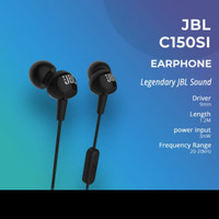 JBL C150SI In-Ear Headphones Headset With Mic Original garansi IMS