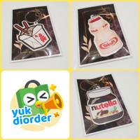 3 PCS KEYCHAIN miniatur snack lucu unik cute | bisa jadi cofing