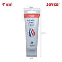 Acrylic Color Cat Akrilik Joyko TiTi ACC-75ML-25 Silver Color Warna