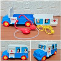 Mainan Mobil Ambulan Dokter Dokteran Set