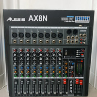 audio mixer alesis ax8n ( 8 channel full )usb-mp3-bluetooth