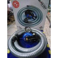 Regulator Gas Star Cam /Regulator Paket Meter Dan Selang / Complit