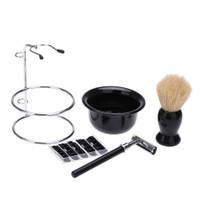 Paket Silet Pencukur Jenggot Perlengkapan Barber Razor Brush Holder