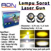 Lampu Tembak Sorot CWL Laser Led motor Mobil Mini LENS Projie by ADN