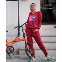 GYL - Sporty set GYL Setelan Baju Sporty Bahan Cotton Combed Premium 2