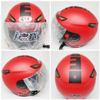 Helm JPN kawai momo merah doff kaca pilot