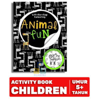 LIFT THE FLAP COLOURING ANIMAL FUN Buku Aktivitas Edukasi Anak BBW