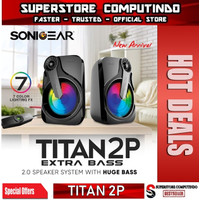 Sonicgear Titan 2P Speaker System With Huge Bass and 7 Color Lighting