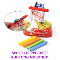 5pcs Klip Penjepit Kantong Kemasan Makanan Food Sealing Clip Sealer