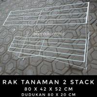 Rak Tanaman 2 Stack Dudukan 80 x 20/Rak Besi Tanaman Hias