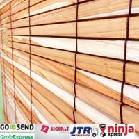 tirai kayu jati lebar 100cm x panjang 200cm
