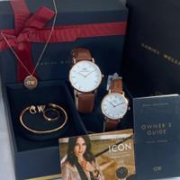 jam tangan Couple/fashion pria paket free set sesuai foto