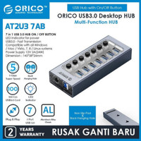 Orico AT2U3-7AB 7 Port USB Hub with Individual Switches