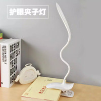 Lampu Meja - Lampu Belajar - Lampu Baca Model Jepit Rechargeable