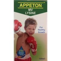 Appeton Lysine Syrup 60ml (Multivitamin Anak)sirup apeton appetton