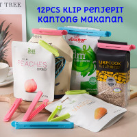 12pcs Klip Penjepit Kantong Kemasan Makanan Food Sealing Clip Sealer