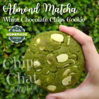 Best NYC Soft Baked Chewy Almond Matcha White Chocolate Chips Cookies