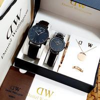 jam tangan Couple/jam Couple paket set acc lengkap sesuai foto terbaru