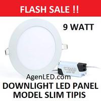 Lampu Downlight LED Panel 9W Putih 9 W Watt Tipis BULAT INBOW 9watt
