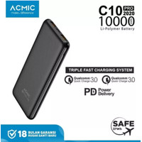 ACMIC C10PRO 10000mAh PowerBank Quick Charge 3.0 + Power Delivery