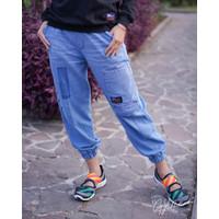 GYL JOGGER JEANS Celana Wanita Bahan Babby Soft Jeans Fit - XL 08-09-2