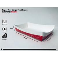Paper Tray L Merah-per 100 pcs