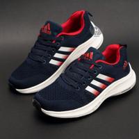 Sepatu Sport Pria Sneakers Import Tali Zoom Runing Jogging ZMP01-NAVY