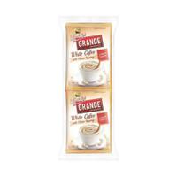 KAPAL API GRANDE WHITE COFFEE TOPPING KOPI BUBUK INSTAN 10 X 20 GRAM