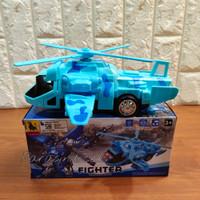 Mainan Helicopter Army Berubah Jadi Robot Bump and Go
