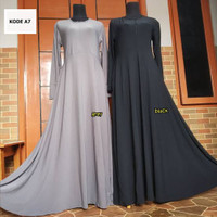 gamis jersey payung polos