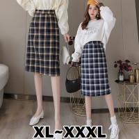 832 Bigsize XL/XXL/XXXL Hwasa Skirt/Rok Korean Motif Kotak Kotak