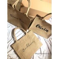 Jute Bag Tote | Tas Goni Custom | Tas Burlap | Tote bag