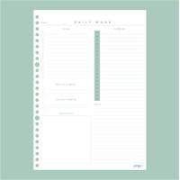 Loose Leaf B5/A5 Work Diary Kertas Binder - B5