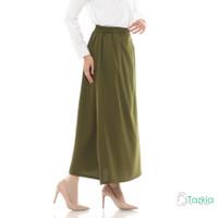 Bawahan Muslim Wanita | Basic Skirt Army | Rok Polos | Tazkia Hijab
