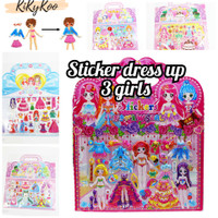 Sticker dress up timbul mainan orang orangan sticker ganti baju
