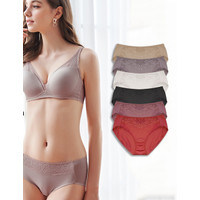 Brief Cotton Vivien Rosebud Middle Lace