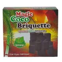 Arang instan Magic Coco Briquette Original Tipe D isi 12Pcs 540gr