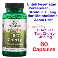 HiActives Tart Cherry 465 mg, Swanson ( USA PRODUCT ) 60 Capsules