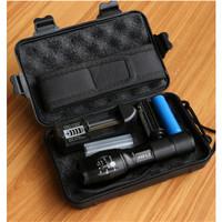 Paket Senter LED Cree XM-L2 8000 lumens + baterai + charger + BOX E17