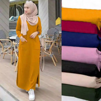 Dress Maxi Lindry Gamis Fit to XL - Mustard