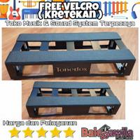 Board Pedal Tonebox Pedal Board Efek Gitar Tonebox Modular 35x15x6 cm