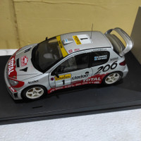 Auto art 1 18 Peugeot 206 WRC Marcus Gronholm Rally Monte Carlo