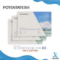 Kertas Cat Air Potentate A5 Cotton 300gsm Watercolor Paper Pad
