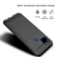 Softcase A15 Oppo Ipaky Carbon Fiber Case Silicon Casing Softshell