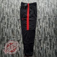 Training nike original bahan diadora Trening murah Celana jogging - Hitam-Merah, M