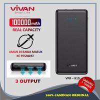 Power Bank 10000 mAh Vivan VPB-K10 22.5W powerbank murah 3 Output