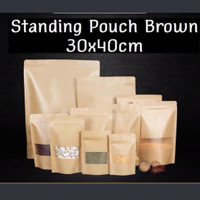 ziplock bag | Kraft paper bag |standing pouch brown | kemasan 30x40cm