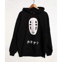 HOONEYBEE - SWEATER HOODIE KAONASHI NO FACE - SPIRITED AWAY Halloween - M